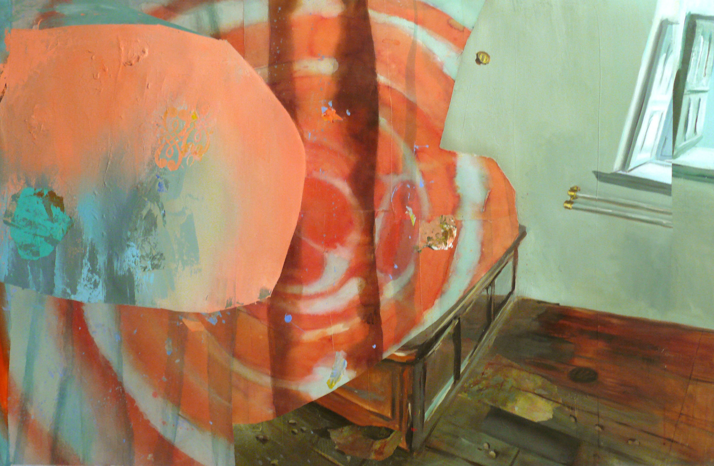"Intrusive Orange 44"" x 68"""