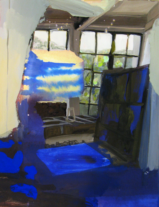 """A Manly Place 15"""" x 11"""" gouache & watercolor"""