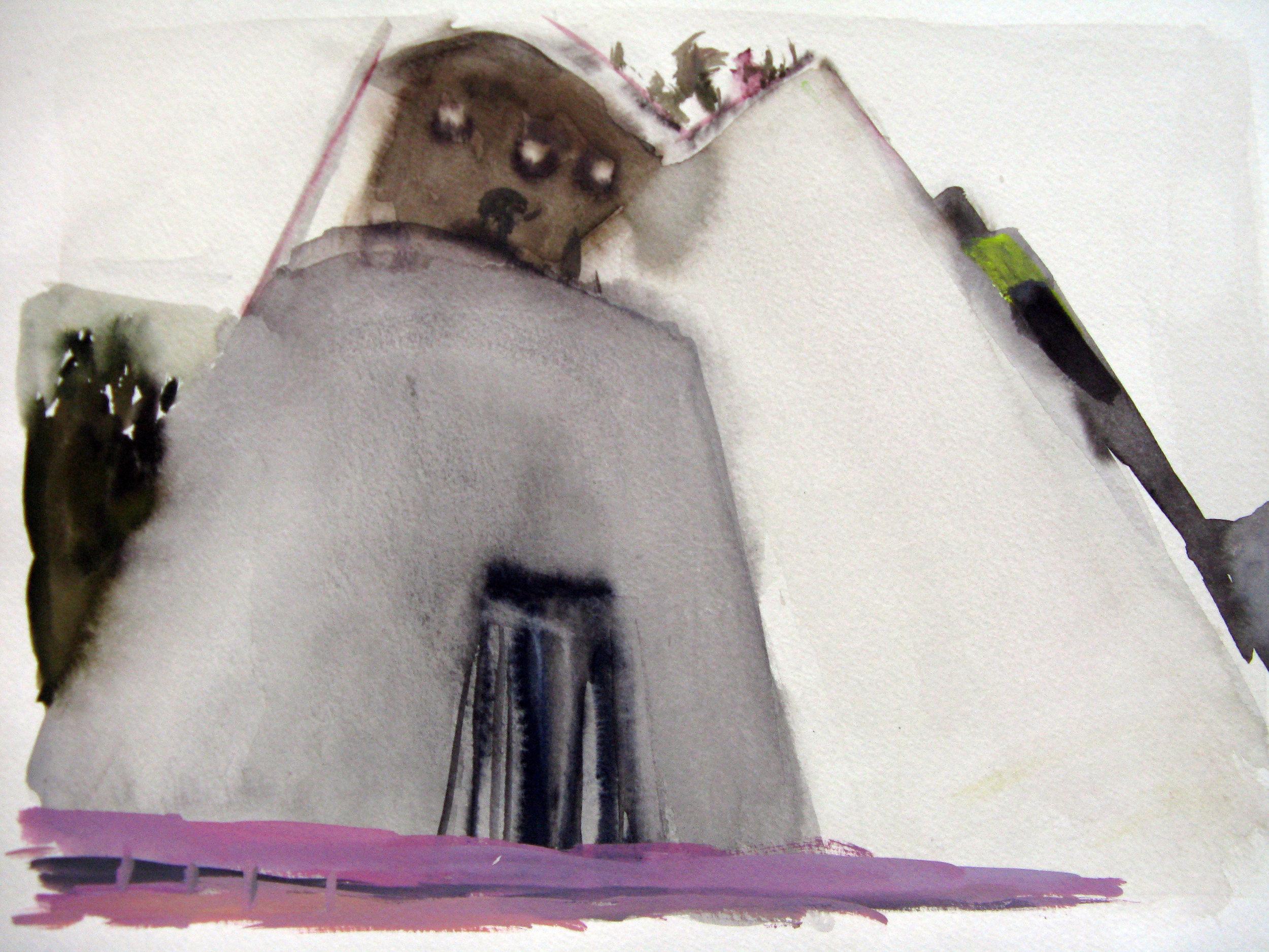 "Church School 15"" x 11"" watercolor"