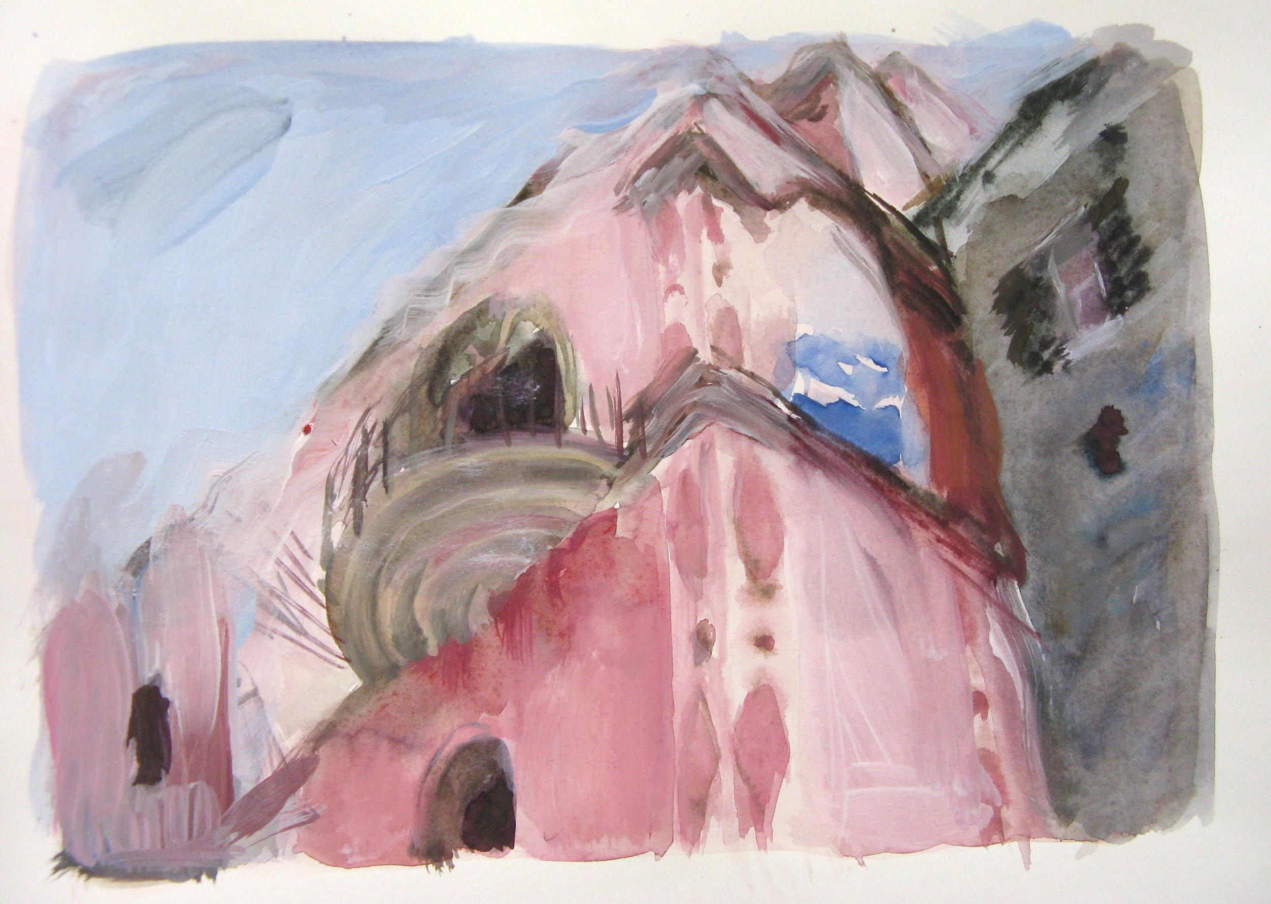 """Nero d'Avola , Itri  11"""" x 15"""" watercolor"""
