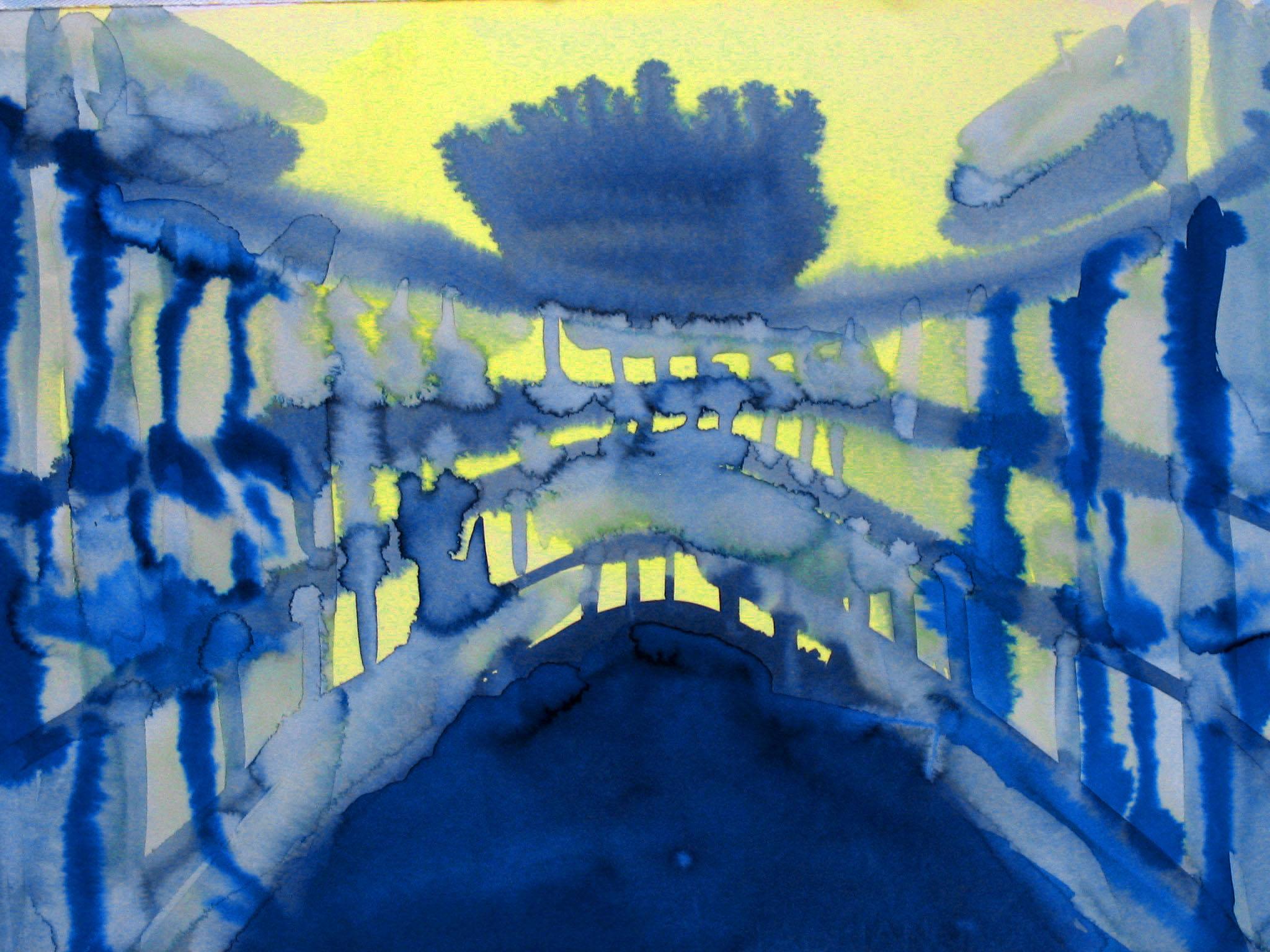 """Coliseum 11"""" x 15"""" watercolor"""