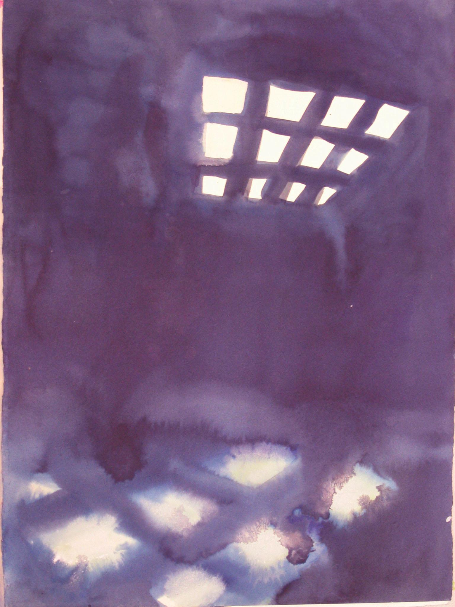 "Deep Purple 11"" x 18"" watercolor"