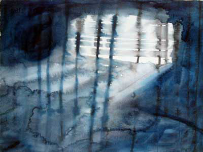 """Inside and Out 11"""" x 15"""" watercolor"""
