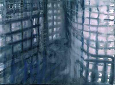 "Grey Blade Runner 11"" x 15"" watercolor"