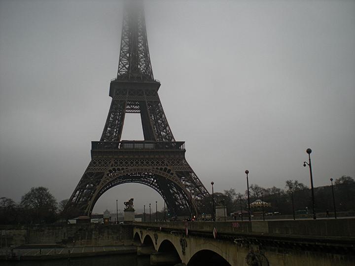 Eiffel Tower in Fog, Paris, France, 2015