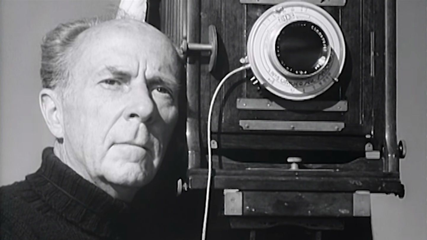 """Edward Weston and camera - """"To consult the rules of composition before making a picture is a little like consulting the law of gravity before going for a walk.""""— EDWARD WESTON"""