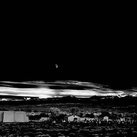 Moonrise, Henandez, New Mexico c. 1941 - ANSELADAMS