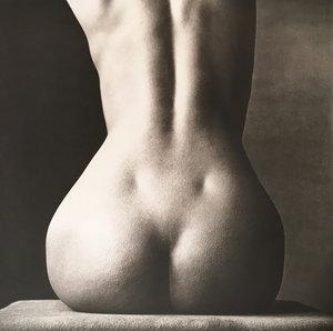 Sitting Nude Rear - IrvingPenn