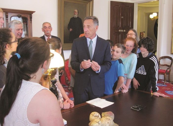 In 2016, Governor Peter Shumlin signed a bill naming the Gilfeather turnip the state vegetable. PHOTOS COURTESY OF FRIENDS OF THE WARDSBORO LIBRARY