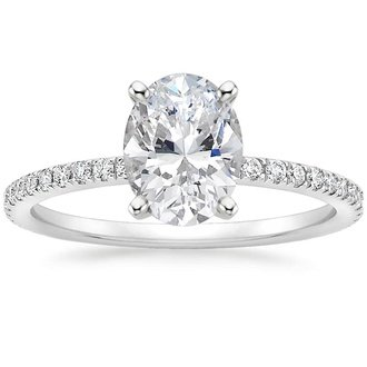oval engagement rings at Providence Diamond