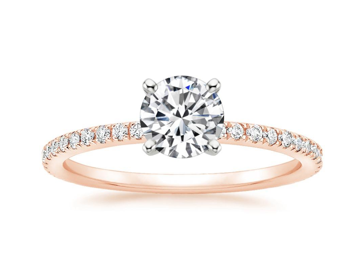 rose gold engagement rings at Providence Diamond.