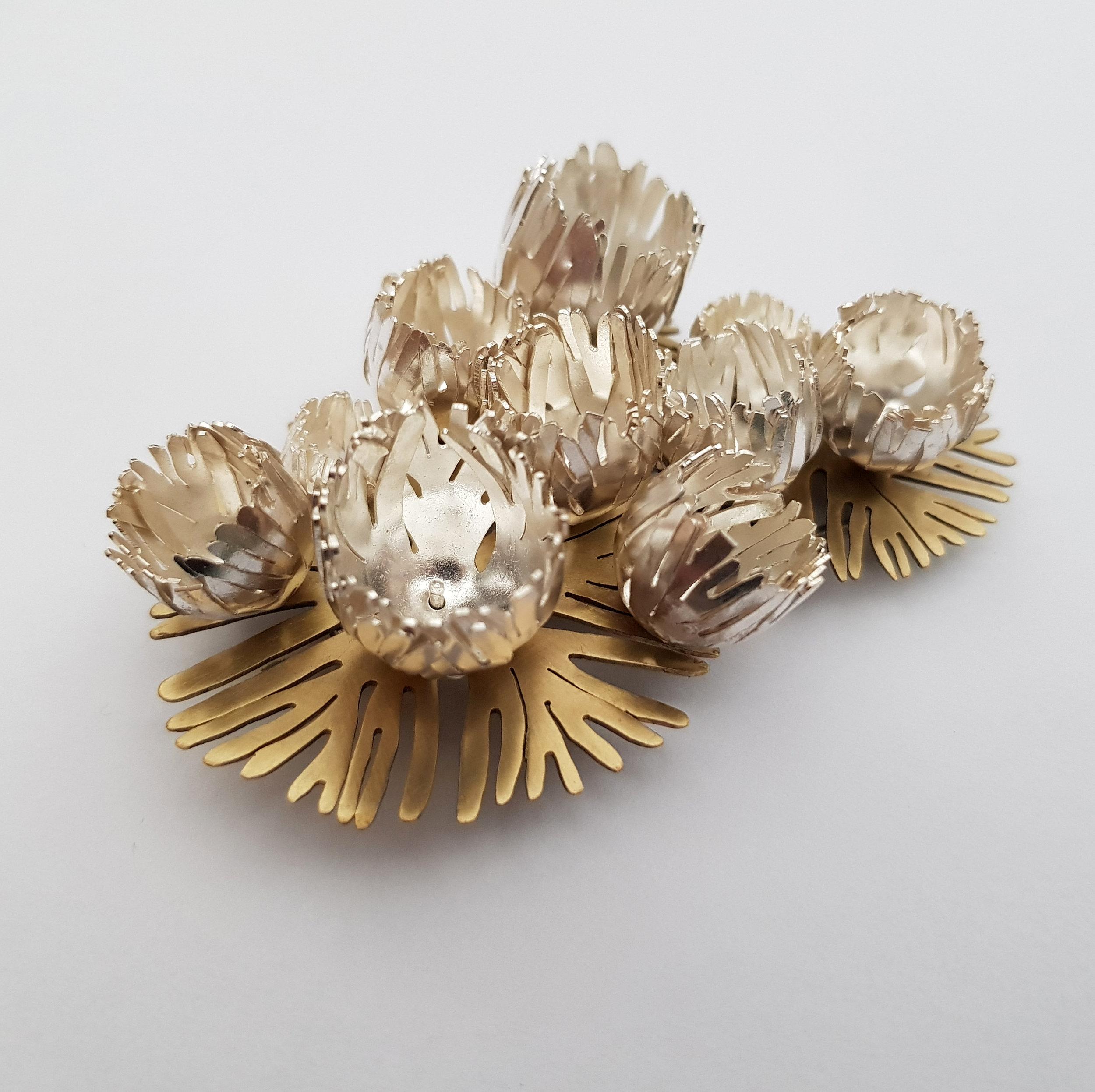 Brooch - Brass / Sterling Silver