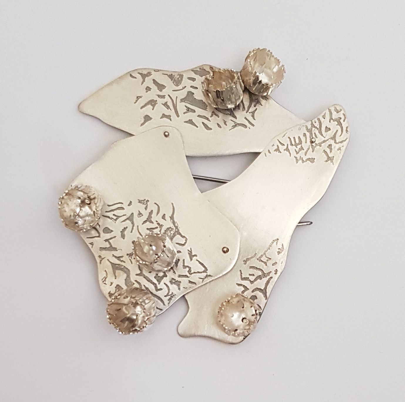 Brooch - Etched Sterling Silver