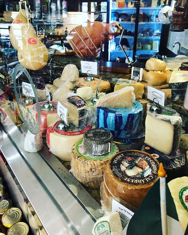 Over 30 imported Italian cheeses for your delight!  Soup of the Day Sausage & Shrimp Gumbo $4.95/$8.95  Sandwiches Blackened Turkey, Hot Soppresata, Asiago, Lettuce, Tomato, & Mayo. On Semolina $8.95  Speck, Provolone, Sundried Tomato, Arugula, Balsamic, & Oil. On Ciabatta-$9.95  Wrap Grilled Chicken, Goat Cheese, Arugula, Red Onion, Strawberries, and Raspberry Vinaigrette. On Your Choice Of Whole Wheat, Plain, Tomato Basil, Or Spinach Wraps-$7.95  Insalata Romaine Lettuce, Mimmos Crab Cake, Grape Tomatoes, Red Onion, & Housemade Lemon Vinaigrette. $9.95 Add Chicken- $11.95 Add Shrimp- $13.95  #materasonpark #TheLoft07070 #livework07070 #livematera #mangiamo #materascateringcompany #cheeseshop #bestinjersey #njeats #Matera2019 #CapitaleEuropeaDellaCultura2019 #summer2019 #materastraveling