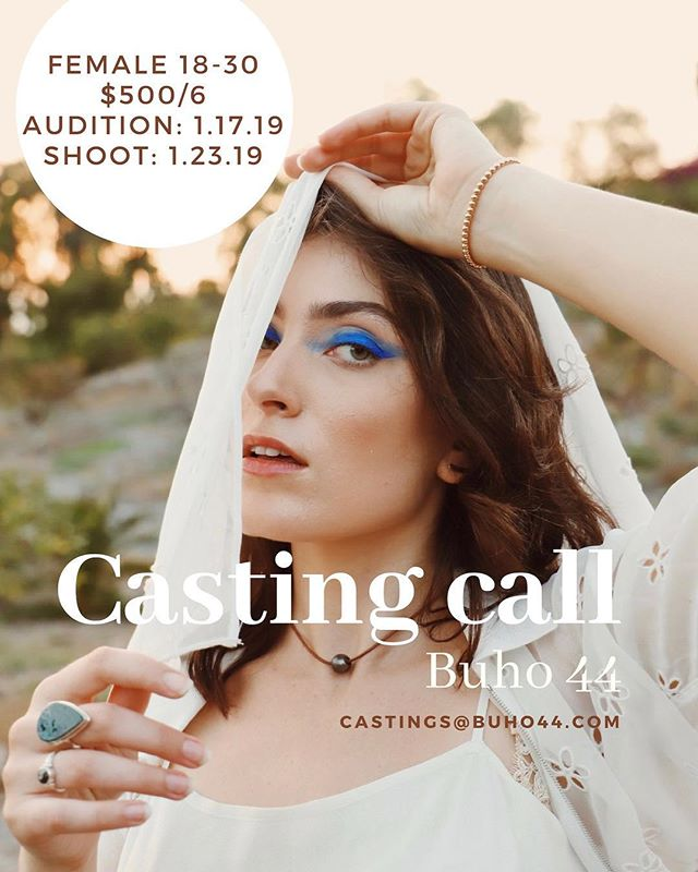 Hey San Diego! Looking for an actress who can dance or a dancer that can act! IMPORTANT: Please Email casting@buho44.com with a headshot for the audition address and times! Thank you!