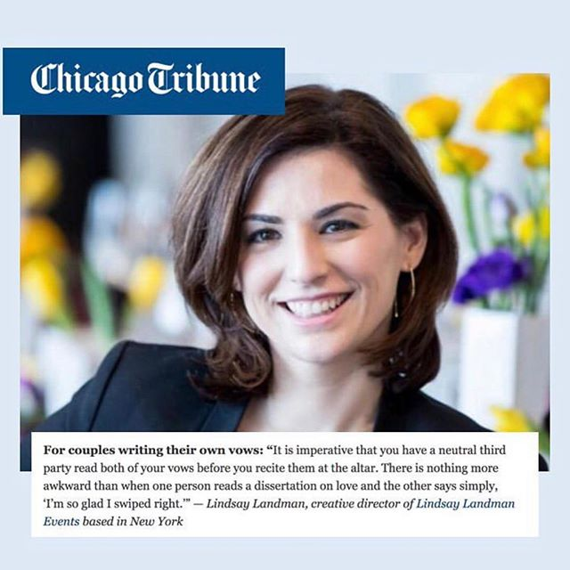 #Repost Four Hearts founder @lindsaylandman shared some wedding wisdom with the @chicagotribune. Tap the link in our bio to read the whole story. . . . #weddingplanning #weddingplanner #weddingtips #weddingceremony #nycweddingplanner #weddingvows