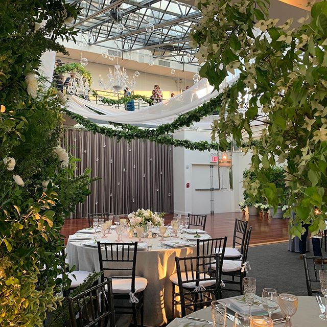 Greenery galore at our May wedding!