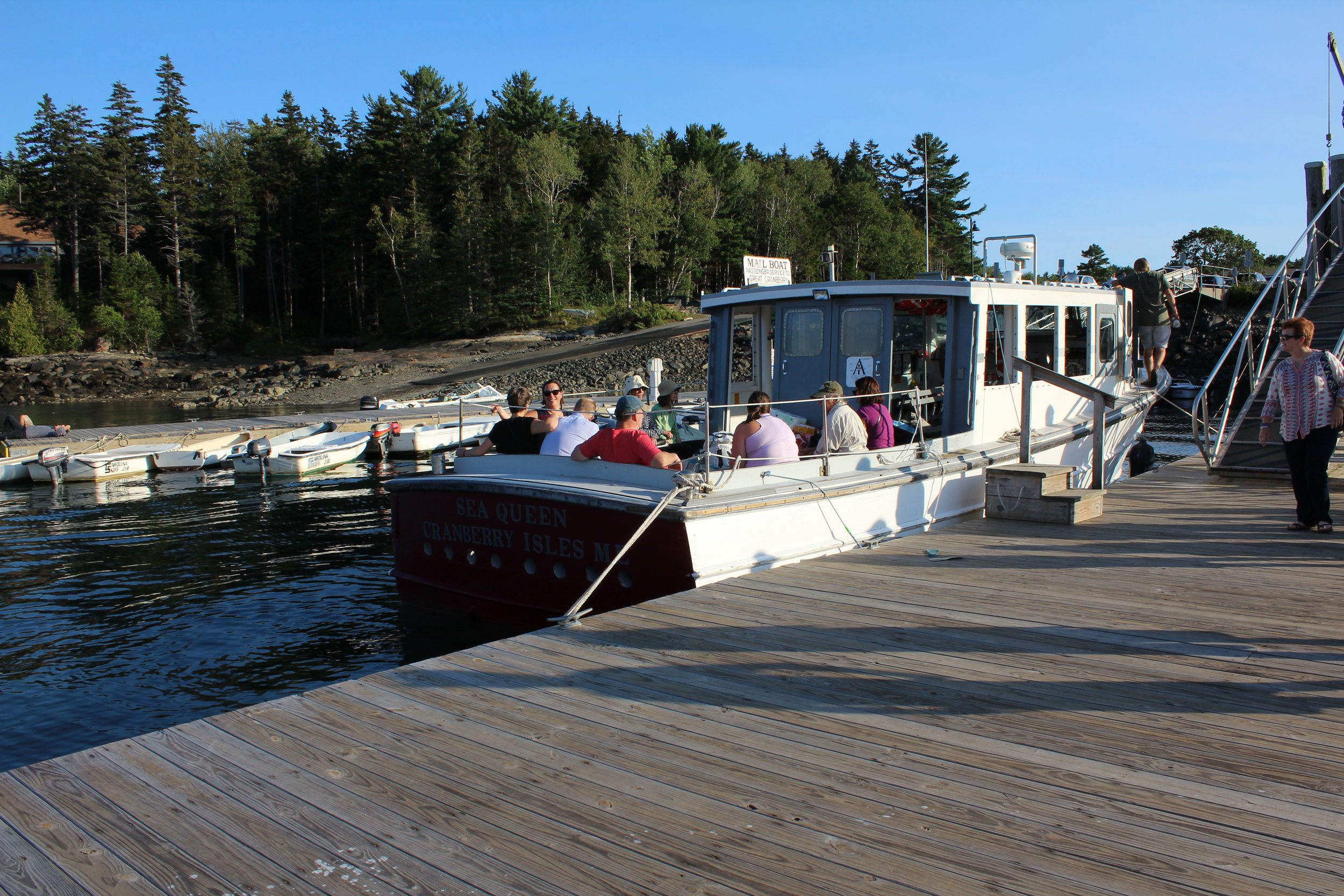 """The Mail Boat"" - Sea Queen, Cranberry Isles,Maine. Docked in Northeast Harbor."