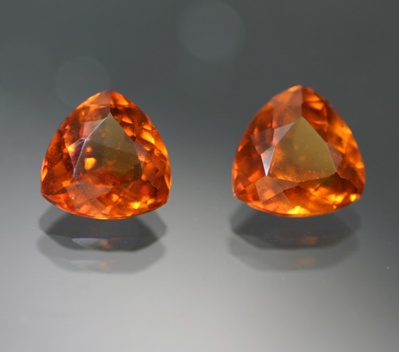 Copy of 5.10 ct. Hessonite Garnet Pair - RESERVED
