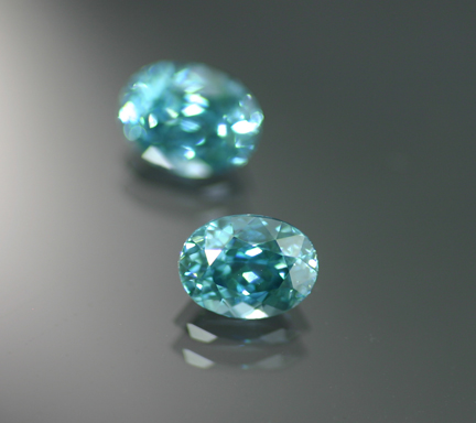 3.34 ct. Blue Zircon Pair