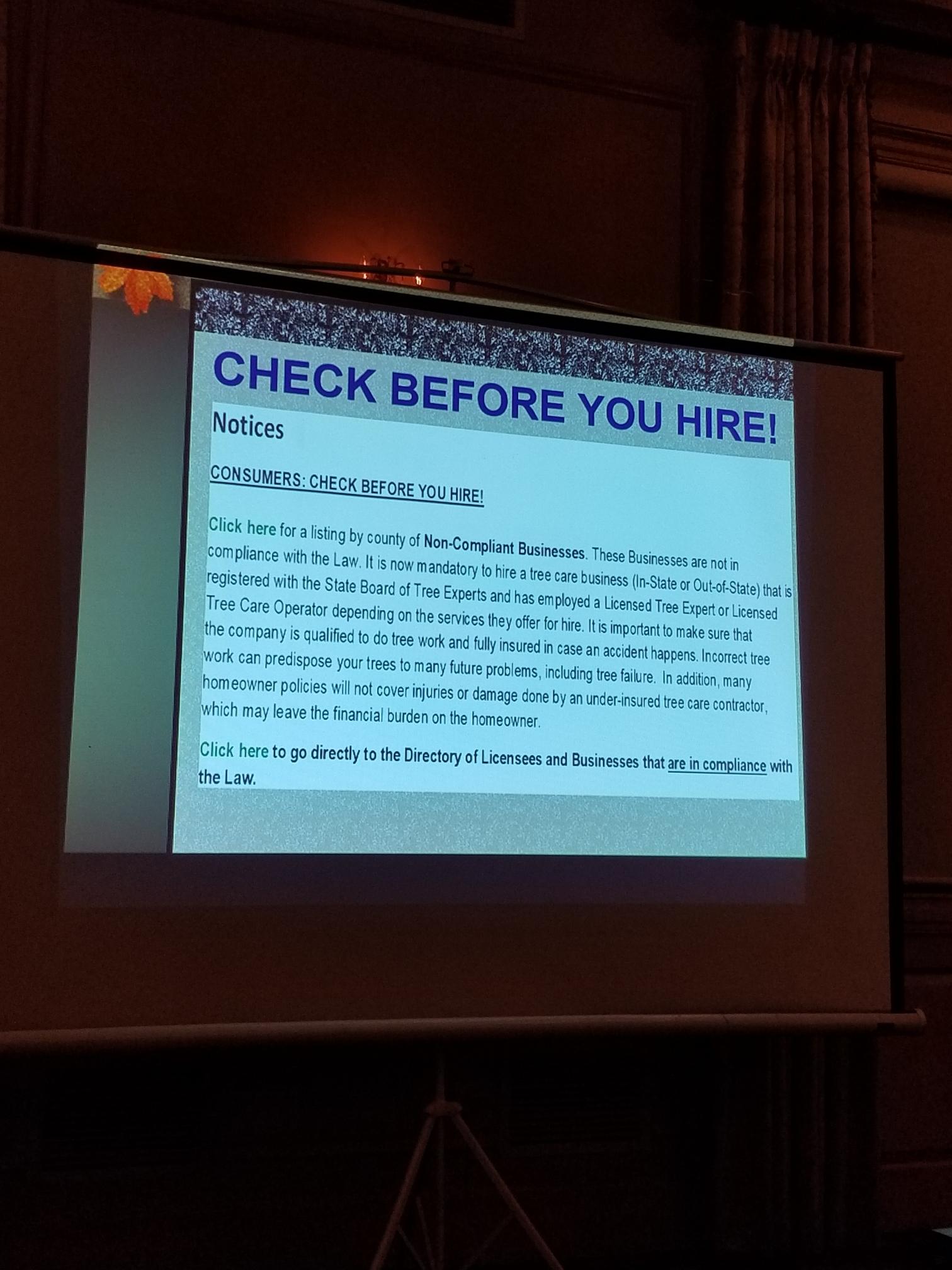A slide from presentation