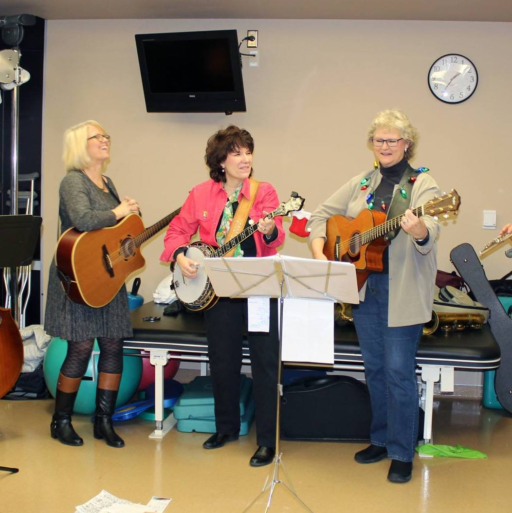 Volunteers perform for patients at Vanderbilt Hospital.