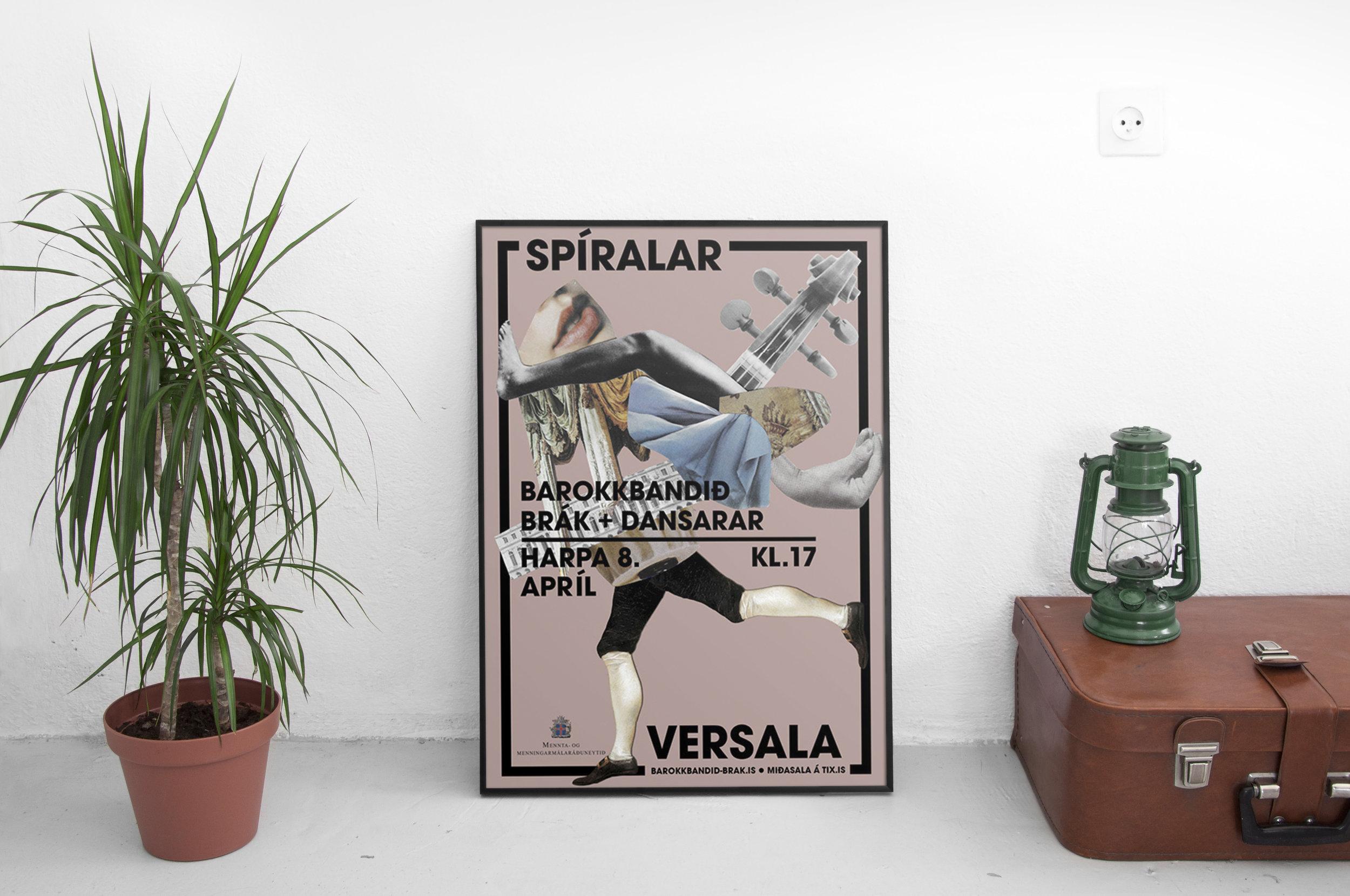 spiralar+versala+Concert+branding+poster+|+tomasdottir.+|+logo+design,+marketing+design,+clipart,+baroque+branding