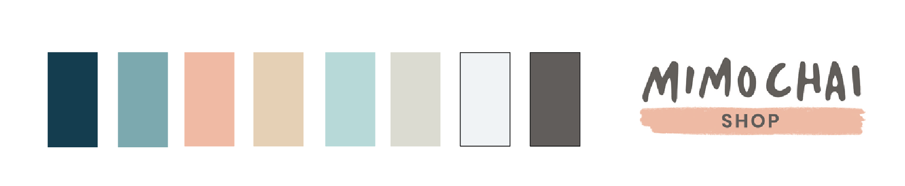 COLOR PALETTE AND MIMOCHAI SUB-BRAND LOGO/BORDER