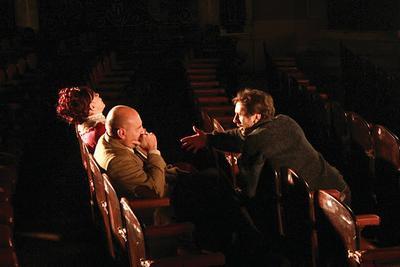 Emiliano Romero. Fundador de la Academia. Director. Topos (2012) dirigiendo a Leonor Manso y el Puma Goity.