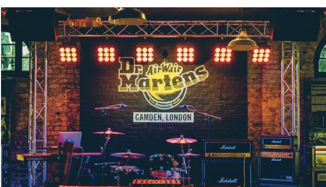 Dr. Martens in-store live music venue. Photo credit: Dr. Martens.