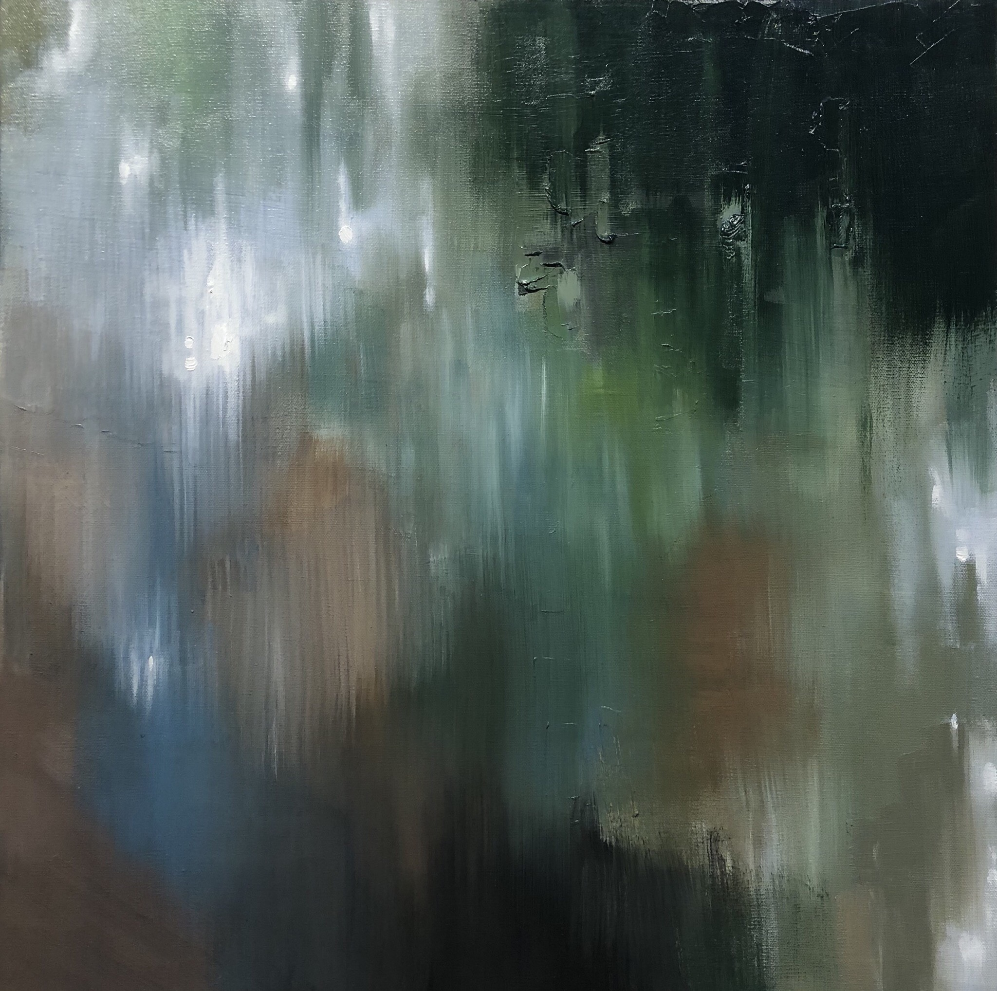 Reflecting Light   2018  24 in X 24 in  oil on canvas