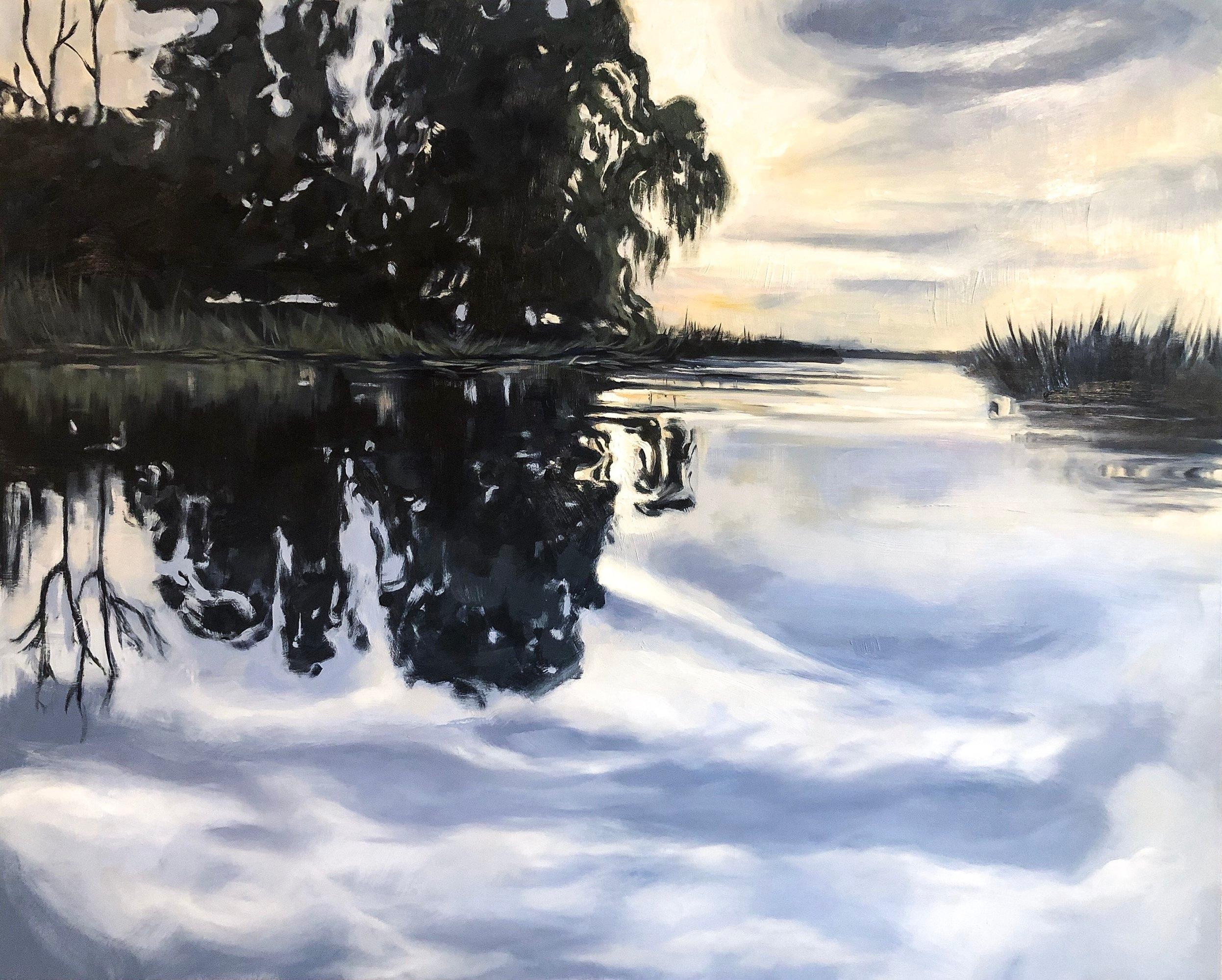 Mirrored Sky   2019  40 in. X 50 in.  oil in panel