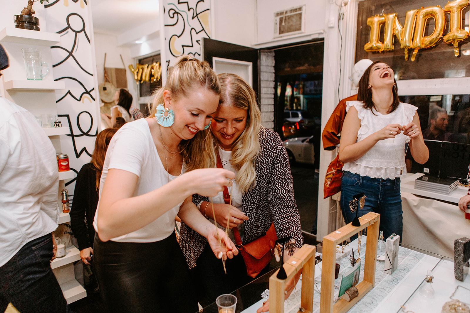 Shoppers at Indie Twenty