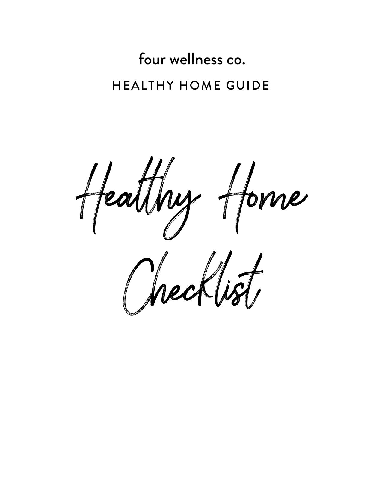 Healthy Home Checklist | Four Wellness Co.