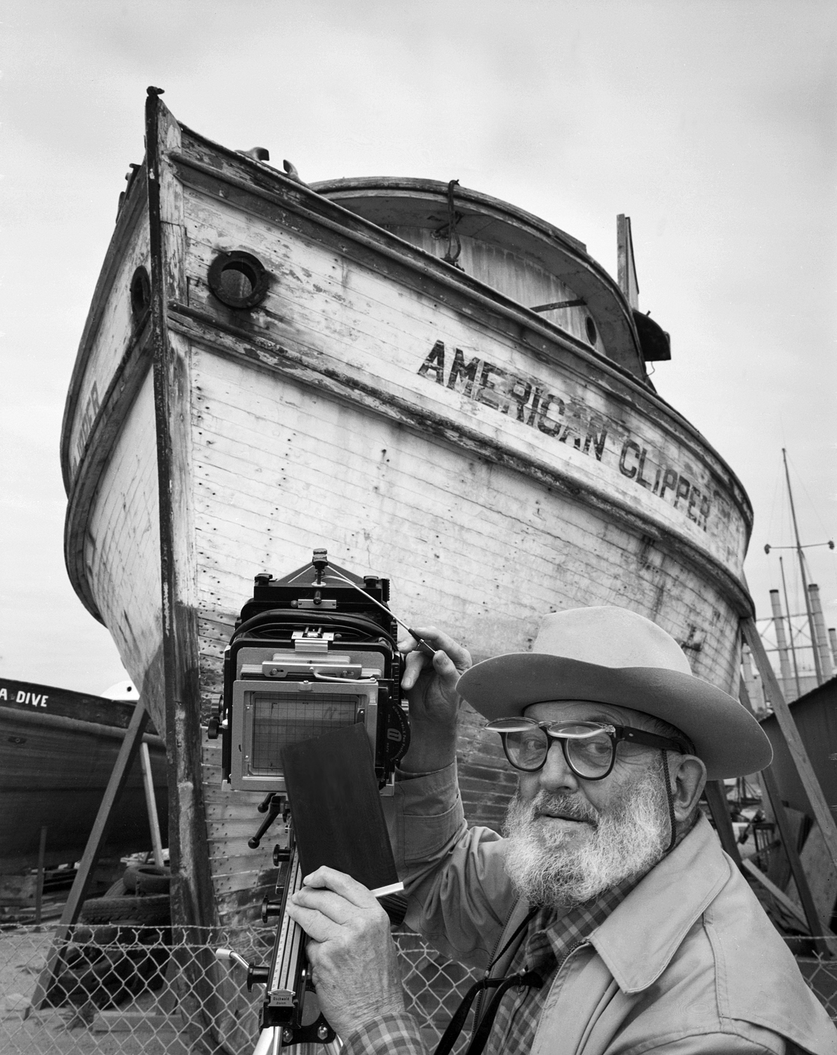 Ansel Adams and The American Clipper, Moss Landing, California