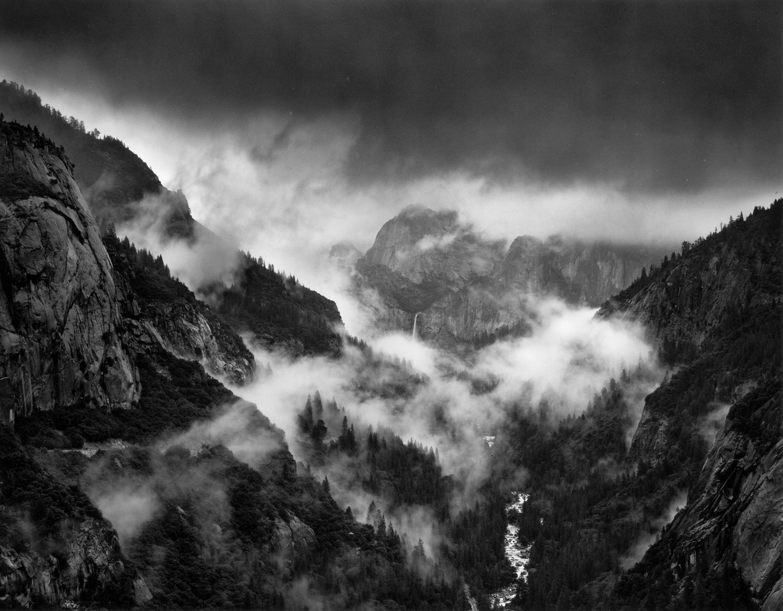 Bridalveil Fall in Storm, Yosemite
