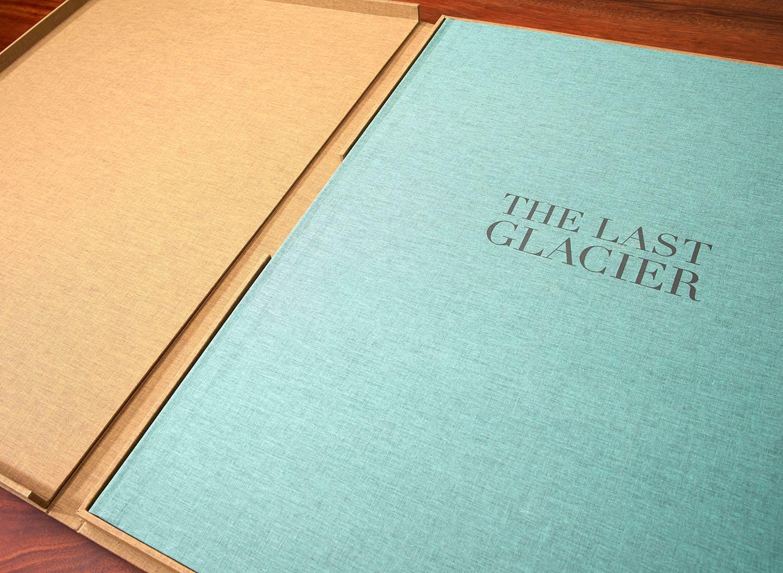 """The Last Glacier  Artist Book. 25""""x38"""" when open, edition of 15"""