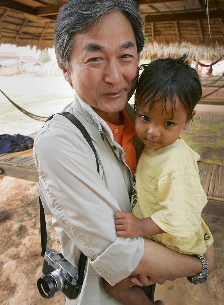 Kenro at Cambodia orphanage