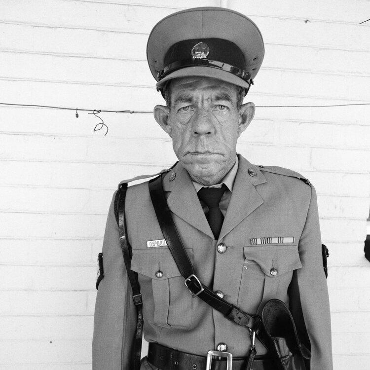 Sergeant F de Bruin, Department of Prisons Employee, Orange Free State, 1992, from 'Platteland'