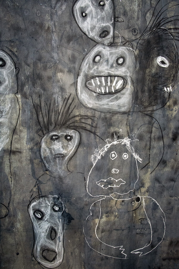 Roger Ballen Drawing, ©Marguerite Rossouw, from 'The World According to Roger Ballen'