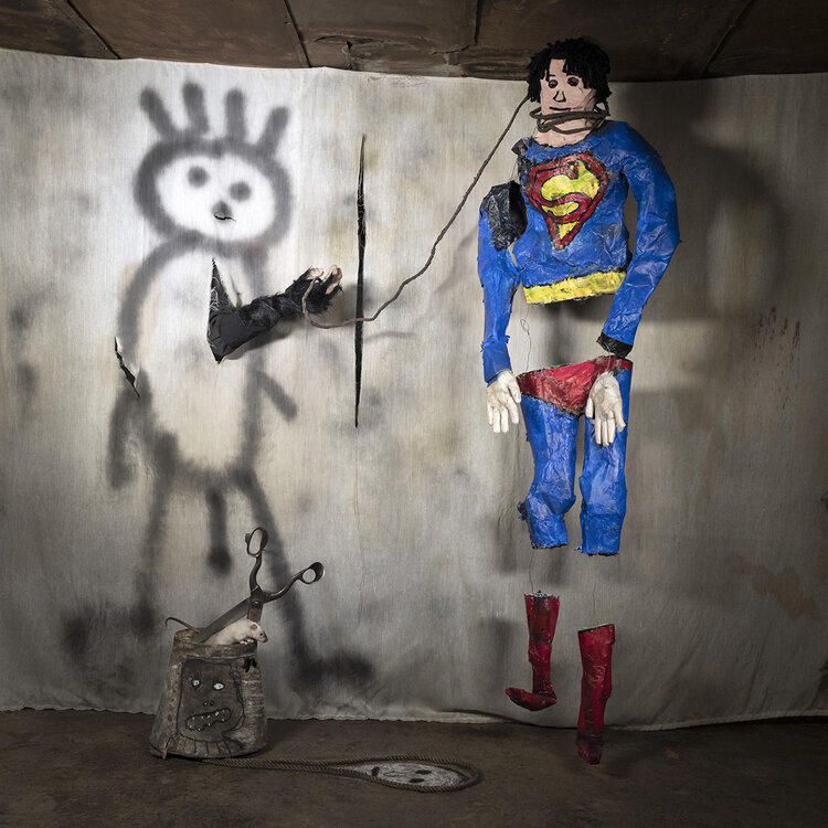 Superman, 2018, from 'The World According to Roger Ballen'