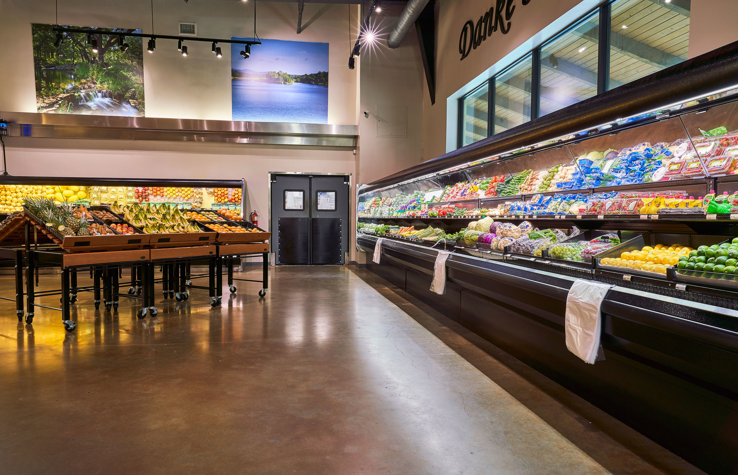 Bayside's Produce Department featuring a wide variety of fresh fruits & vegetables.