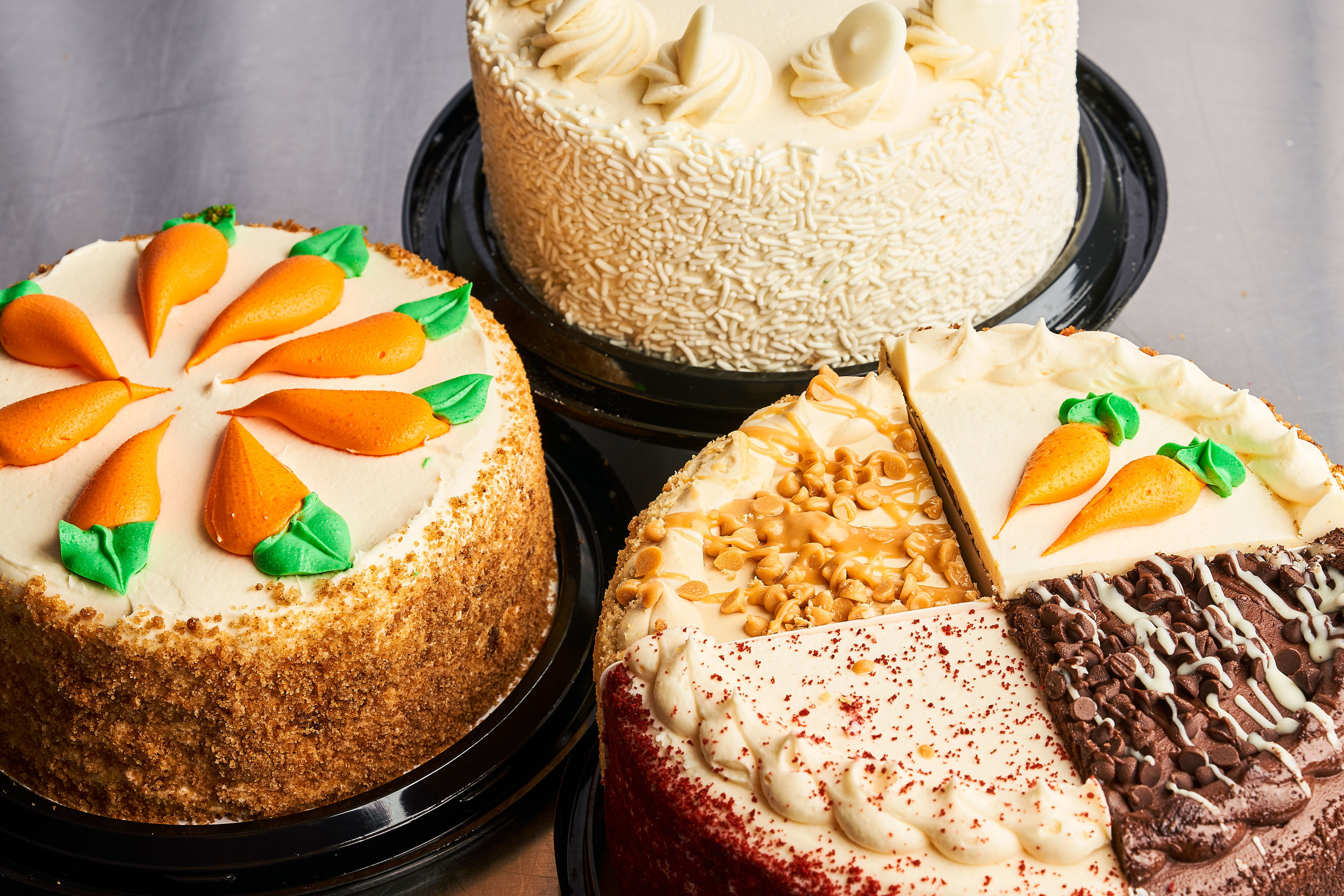 Bayside Fresh Market's bakery offers cheesecakes and variety cakes, perfect for birthday parties and holidays.