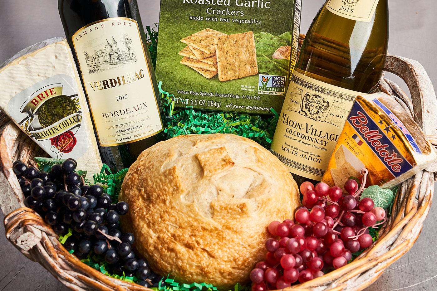 French Gift Basket design by Bayside Fresh Market.