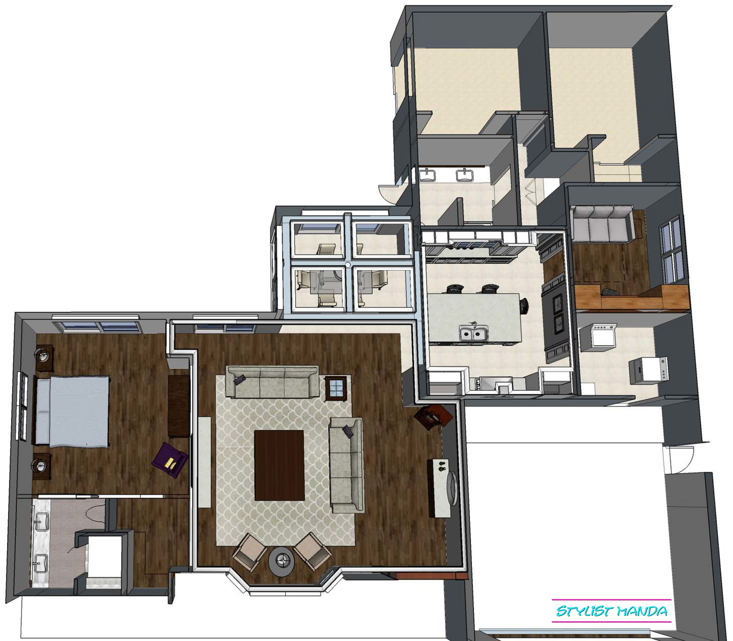 Whole house 3D planning in Sketchup is the perfect way to visualize your next home renovation