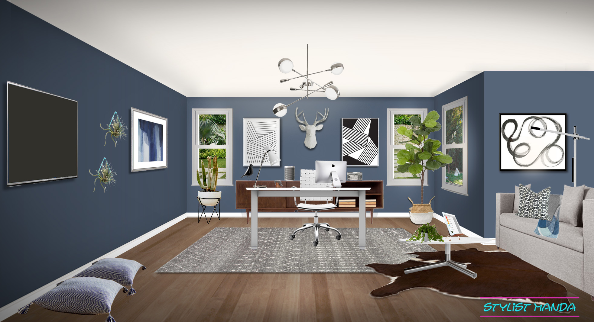 Mid-Century Modern Home Office Inspiration
