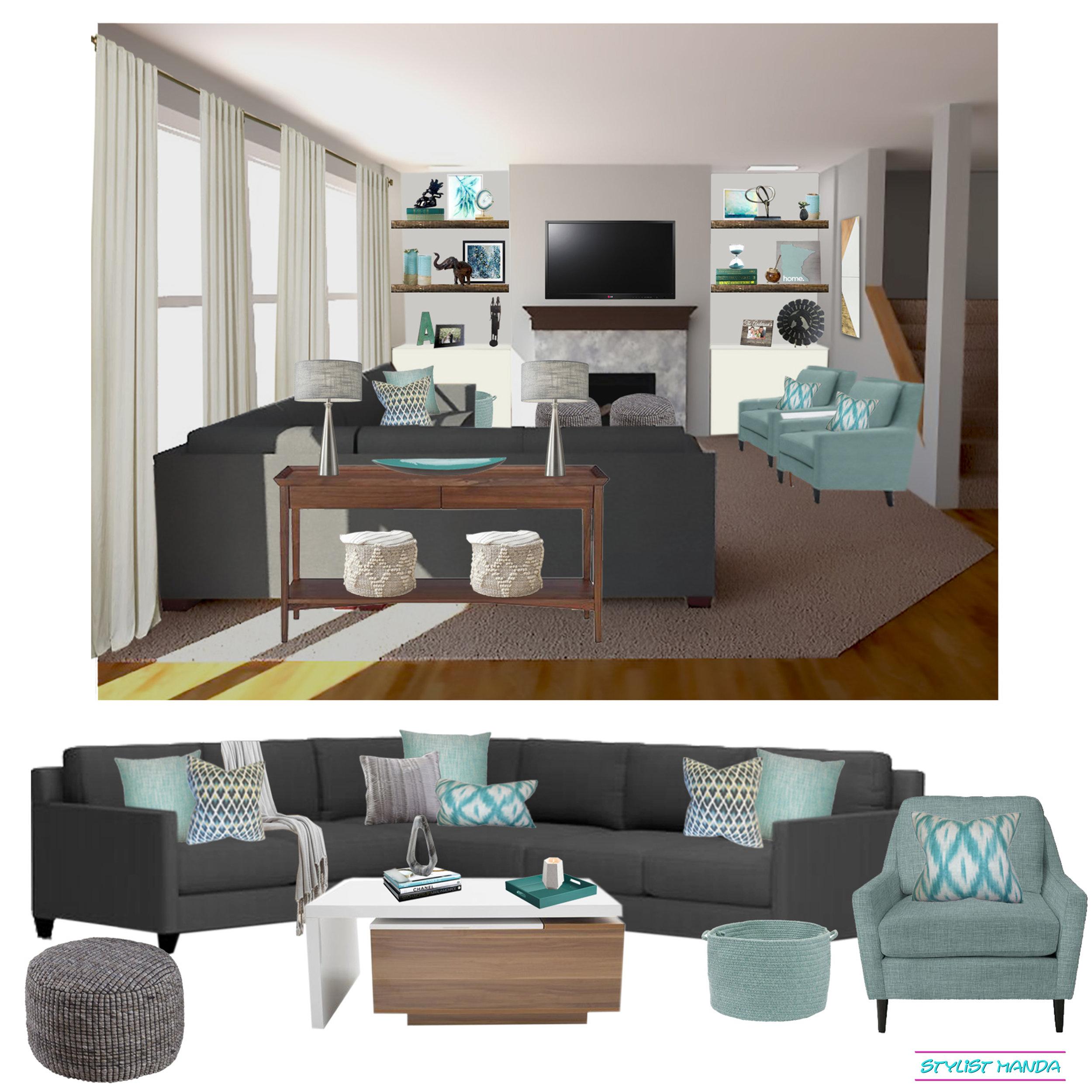 Living room interior design on a budget how to add new decor to travel souvenirs #edesign