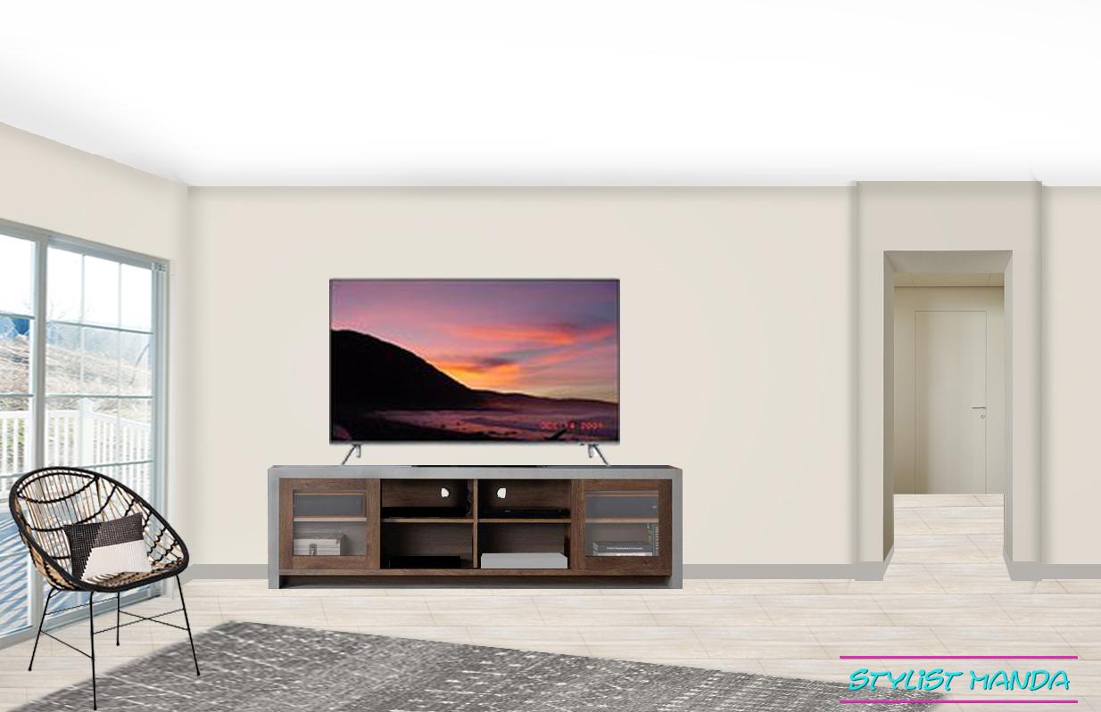 Bachelor Pad living room interior design on a budget #edesign