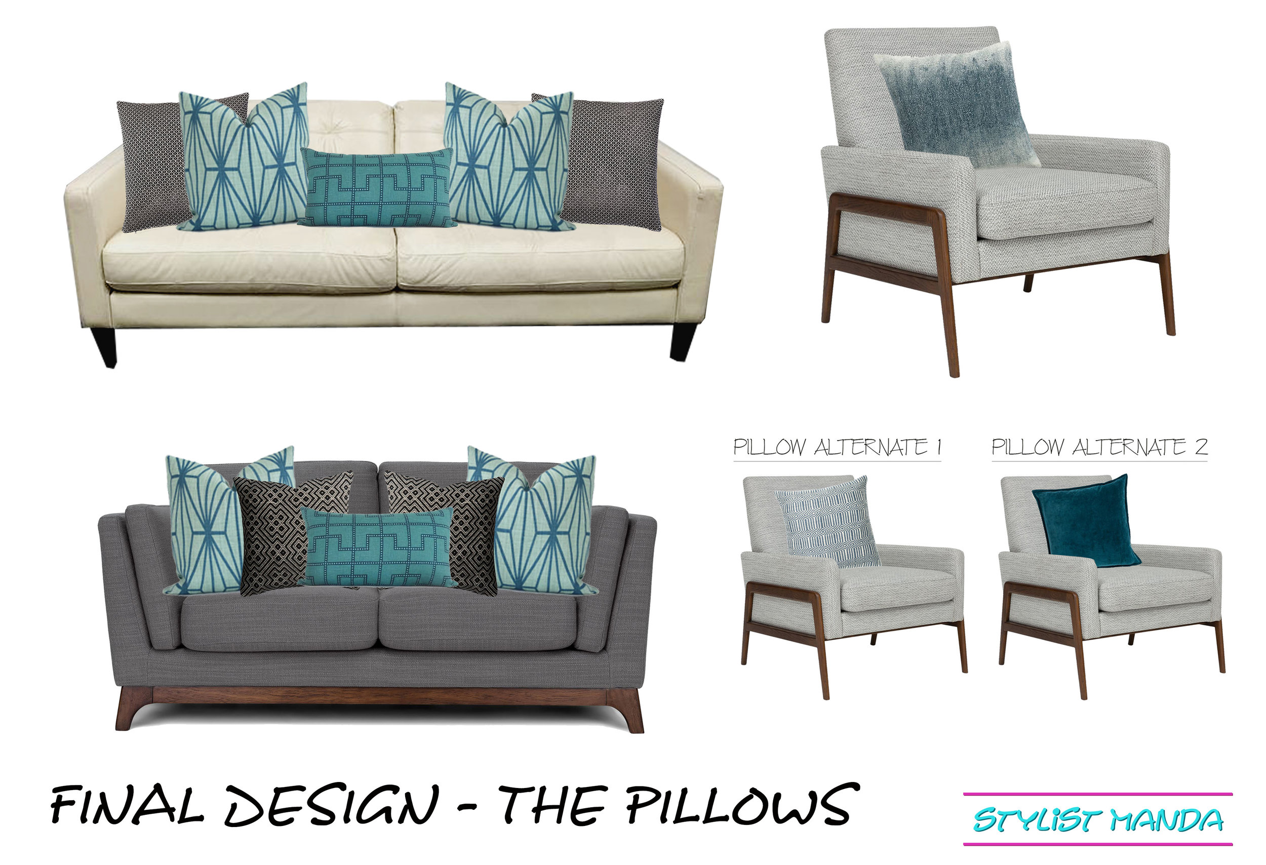 final design sofa pillows example