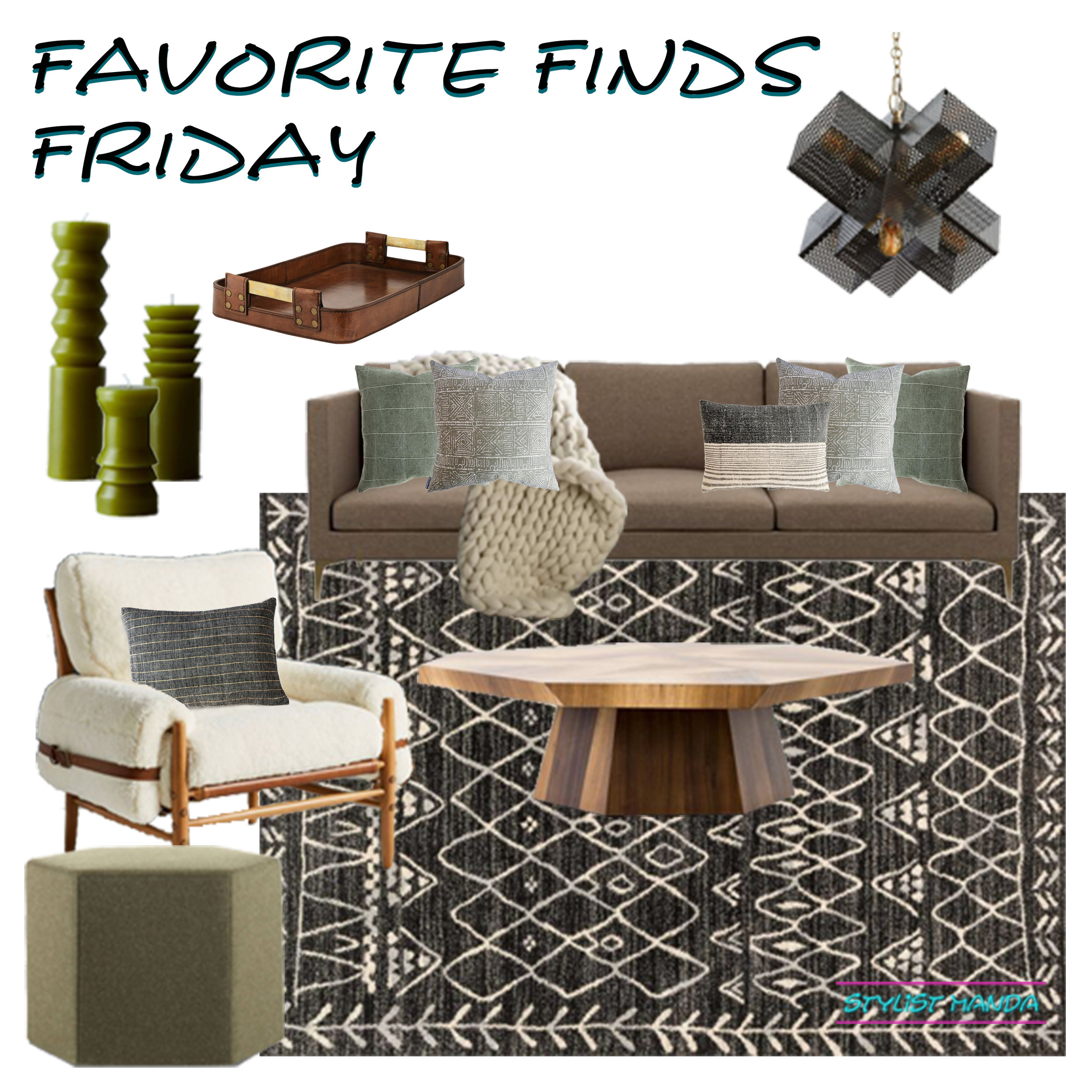 Do you need ideas to refresh your current living room? Check out this shoppable living room design for all your modern boho living room ideas.